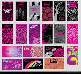 cartão de clipe de vetor design abstrato roxo