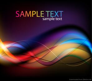 Abstrato colorido luz ondas de fundo Vector