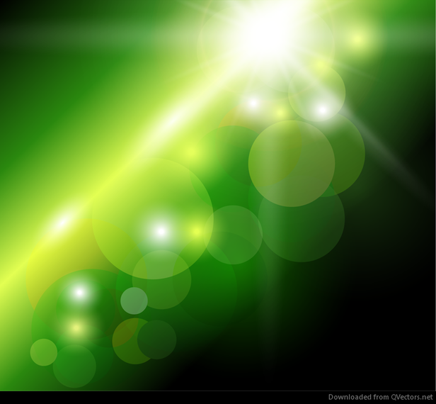 Abstract Green Bokeh Background - Vector download