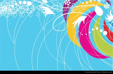 Ilustração em vetor abstrato colorido