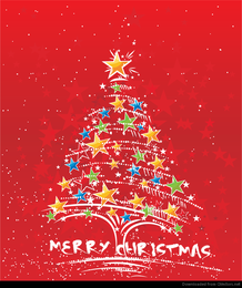 Árvore de Natal abstrata do vetor