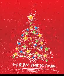 Vector abstracto árbol de navidad