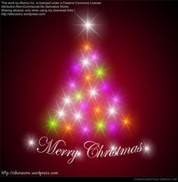 Fundo abstrato da árvore de Natal
