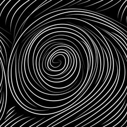 Fondo de doodle de círculo blanco y negro
