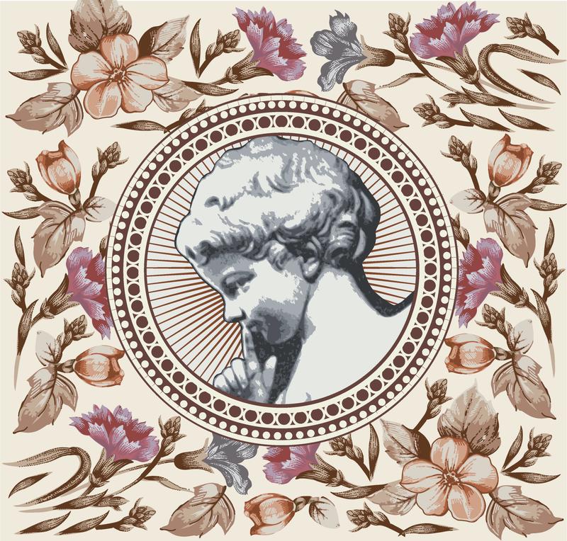 Vintage Ilustraciones De Dama Y Flores Descargar Vector