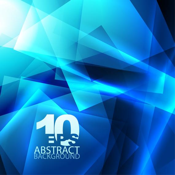 Blue dynamic polygonal background