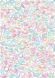 Illustrated food pattern