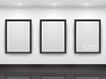 3 frames gallery mockup