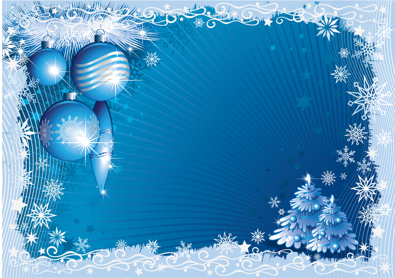 blue christmas frame with snowflakes vector download. Black Bedroom Furniture Sets. Home Design Ideas