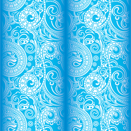 Light-blue arabesque background