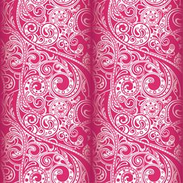 Papel pintado rosa arabescos