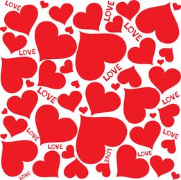 Vetor de corações de amor