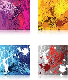 Four Splat Backgrounds