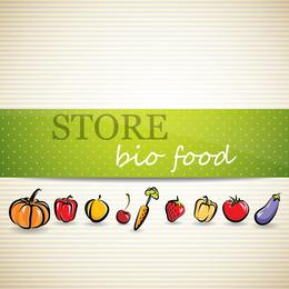 Vegetable Menu Background