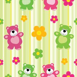 Teddy bear pattern background