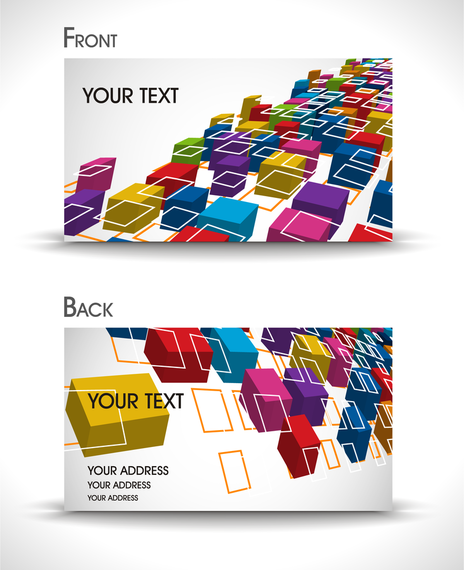 Business card template with 3d cubes vector download business card template with 3d cubes cheaphphosting Choice Image