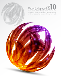 Colorful isolated orb backdrop