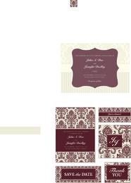 Bride and groom invitation templates