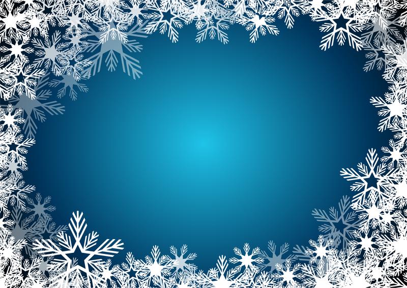 Картинка рамка из снежинок