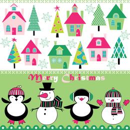 Cartoon Christmas Background 4