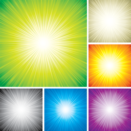 Vetor de luz colorida