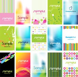 Colorido conjunto de tarjetas de visita
