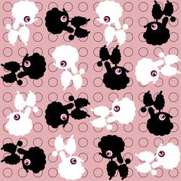 Poodle dog pattern illustration