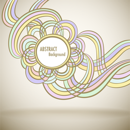 Abstract soft-colored curves background