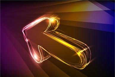 Design de fundo de seta de néon