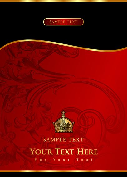 Royal ornamental template