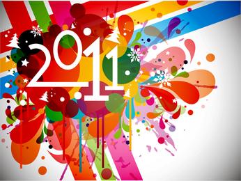 2011 colorido brilhante