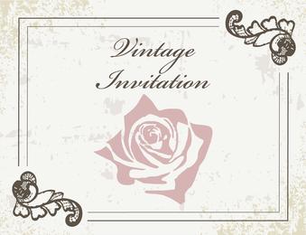 Antike Vintage Einladung