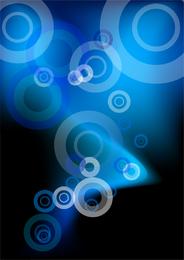 Projeto do círculo abstrato azul