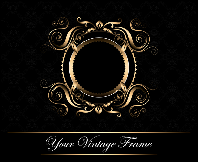 Classic Vintage Retro Frame Backdrop Design
