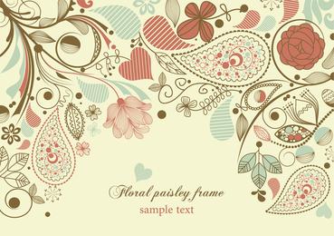 Blumen und wirbelt empfindlichen Hintergrund