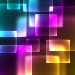 Abstract translucent square background