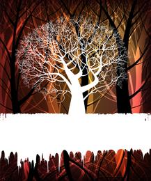 Fundo de silhueta de árvore
