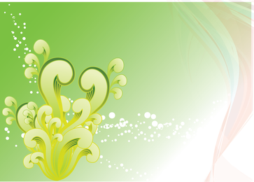 Vetor De Swirly Verde