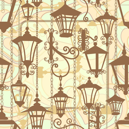 Hanging lamps illustrated pattern