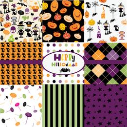Feliz dia das bruxas ilustrado padrões