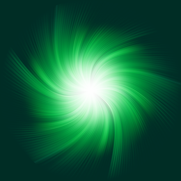 Energetic green starburst background