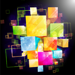 Abstract 3D boxes background