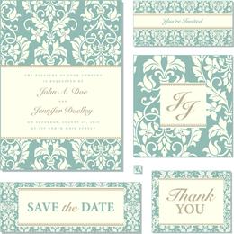 Modelo de convite de casamento florido