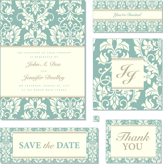 Flowery wedding invitation template