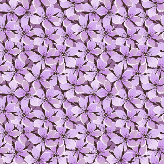 Purple flower pattern design
