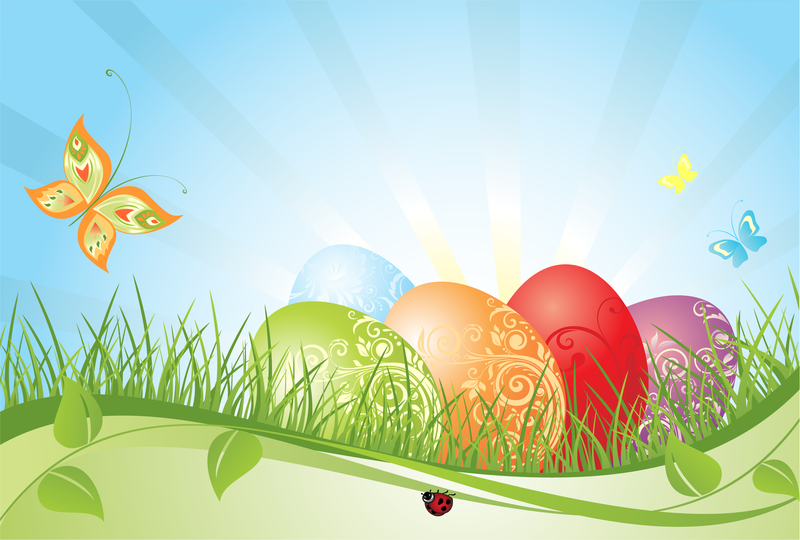Colorful Easter background - Vector download