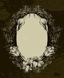 Ornamental grunge frame