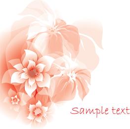 Delicate pink flowers illustration