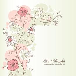 Delicate floral design