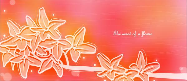 Ilustración de flores de coral suave